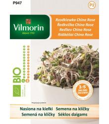 Bio semena na klíčky - Ředkvička - China Rose - 10 g