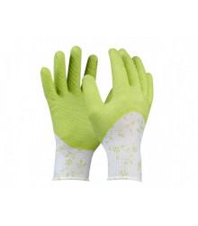 Pracovní rukavice Flower GREEN - dámská velikost 7