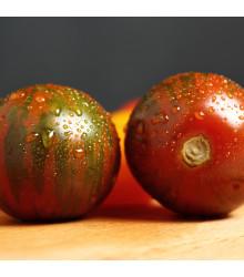 Rajče Black Zebra - Solanum Lycopersicum - osivo rajčat - 7 ks